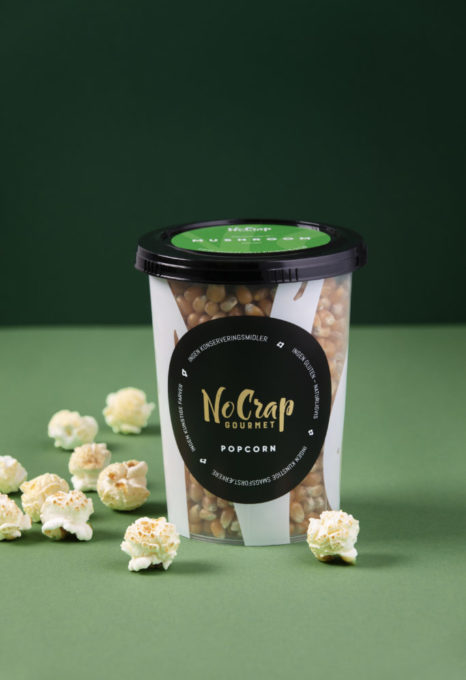 Pop-selv korn til mushroom popcorn